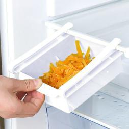 Refrigerator Shelf Storage Rack Space Saver Organizer Slidin