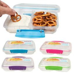 Sistema Small Split 2 Compartment Container Snack Food Stora