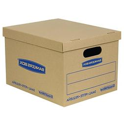 Bankers Box SmoothMove Classic Moving Boxes, Tape-Free Assem