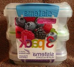 Snack Containers with Lock-Top Lids 3 count Sistema brand 20