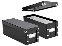 """Snap-N-Store CD Storage Boxes, Set of 2 Boxes, Each 13.25"""" x"""