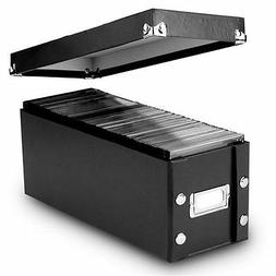 Snap-N-Store CD Storage Boxes, Set of 2 Boxes, Black SNS0161