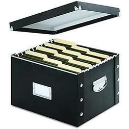 Snap-N-Store File Box, Letter/Legal Size, Glossy Black  Stor