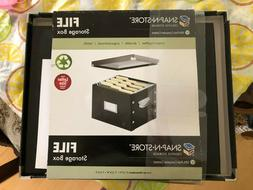 Snap-N-Store Storage File Boxes Letter-Size Box, Black  new
