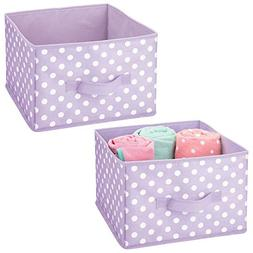mDesign Soft Fabric Closet Storage Organizer Holder Box