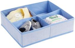 mDesign Soft Fabric Dresser Drawer and Closet Storage Organi
