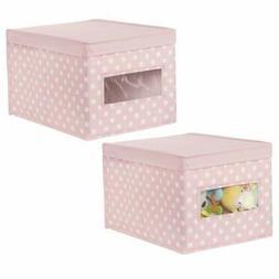 mDesign Soft Stackable Fabric Closet Storage Organizer Holde