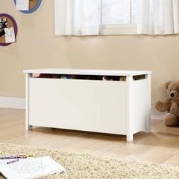 Soft White Kids Toy Chest Wood Box Bin Storage Organizer Chi
