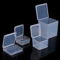 Square Plastic Transparent <font><b>Storage</b></font> <font