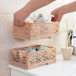 stackable desktop storage basket sundries box foldable