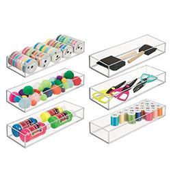 mDesign Stackable Drawer Organizer Storage Bin Tray - Holder