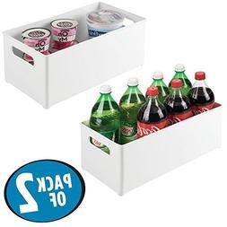 mDesign Stackable Kitchen Storage Organizer Deep Bin Box wit