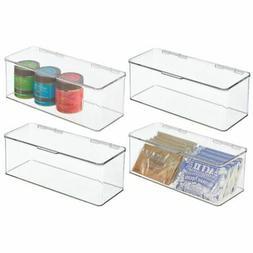 mDesign Stackable Plastic Kitchen Food Storage Bin Box - 4.7