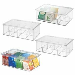 stackable plastic tea bag organizer kitchen storage