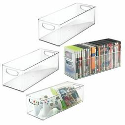 mDesign Stackable Storage Bin for DVDs, Video Games, Accesso