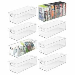 mDesign Plastic Stackable Household Storage Organizer Contai