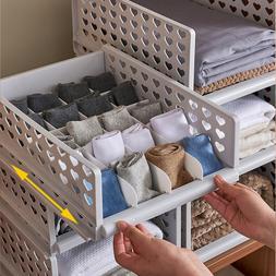 Stackable Wardrobe Drawer Units Organizer Clothes Closet Sto