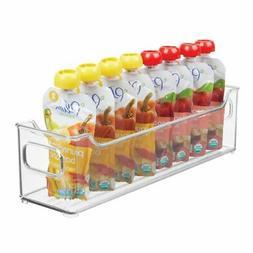 mDesign Stacking Plastic Storage Organizer Bin for Kids Supp