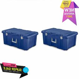 Sterilite Footlocker Stadium Blue Set of 2
