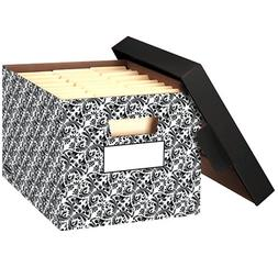 Bankers Box STOR/FILE Decorative Medium-Duty Storage Boxes,