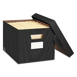 Bankers Box STOR/FILE Decorative Storage Box Letter/Legal Bl