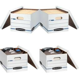 Bankers Box STOR/FILE - Letter/Legal, Lift-Off Lid, White, B