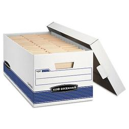 Bankers Box STOR/FILE Storage Box Legal Locking Lid White/Bl