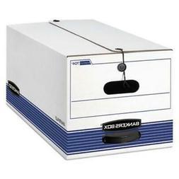 Bankers Box STOR/FILE Storage Box, Letter, Button Tie, White