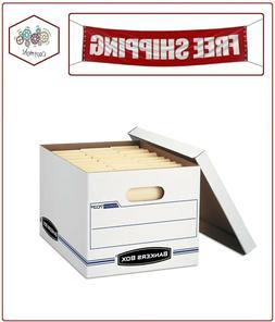 Bankers Box Stor/File Storage Box with Lift-Off Lid, White,