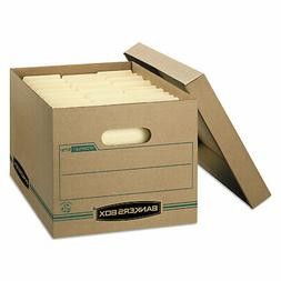 Stor/File Storage Box, Letter/Legal, Lift-off Lid, Kraft/Gre
