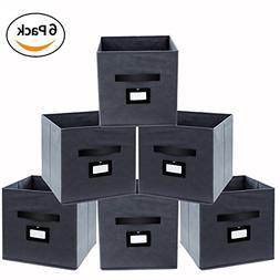 Onlyeasy Fabric Foldable Storage Cubes Bins Boxes Containers