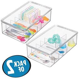 mDesign Storage Boxes with Multiple Compartments and Hinged