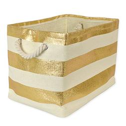 DII Oversize Woven Paper Storage Basket or Bin, Collapsible