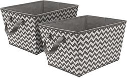 Sorbus Storage Basket Bins, Tapered Chevron Fabric Baskets f