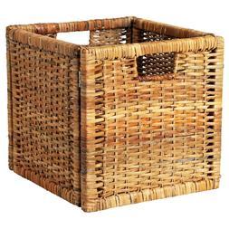IKEA Storage Basket BRANAS for KALLAX Shelf Unit Box Rattan