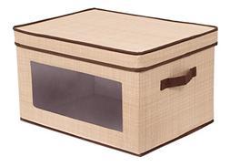 Storage Box Basket Container Lid Bin Toy Organizer Clothes N
