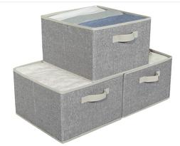 Storage Baskets for Shelf, Large Fabric Storage Boxes with H