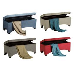 storage bench chest seating toy box blankets
