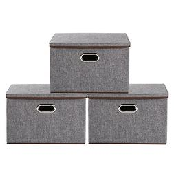 Storage Bins,Okdeals Linen Fabric Foldable Basket Cubes Orga
