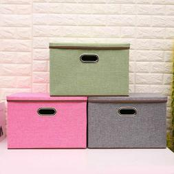 Storage Bins Fabric Boxes Basket Drawer Container Household