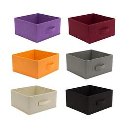 Storage Bins Household Half Cubic Organizer Fabric Boxes Bas