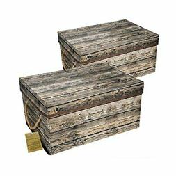 Livememory Storage Bins Decorative Storage Boxes with Lid an