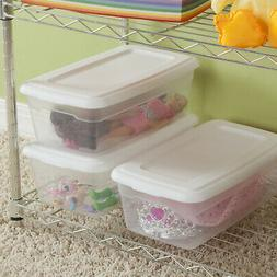 Sterilite Storage Box 6 Qt Set of 36 Clear Base Containers W