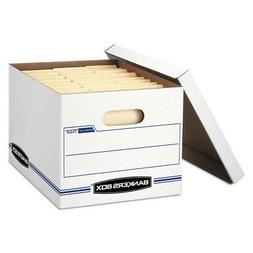 Fellowes Storage Box Ltr/Lgl Lift-Off Lid White/blue 12/ctn