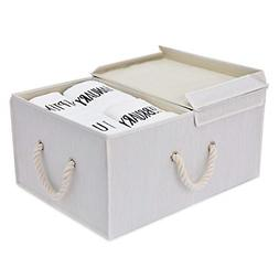StorageWorks Storage Box with Lid and Strong Cotton Rope Han