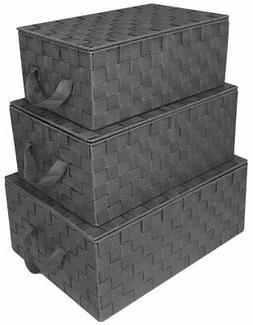 Sorbus Storage Box Woven Basket Bin Container Tote Cube Orga