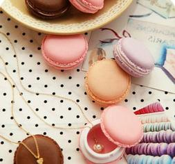 Storage Boxes Cute Mini Macarons Candy Color Jewelry Earring