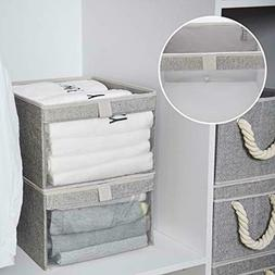StorageWorks Storage Boxes for Shelves with Clear Window, Fo