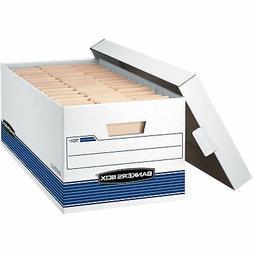 "Fellowes Storage Boxes w/Lid 650 lb Letter 12""x24""x10"" 20/CT"