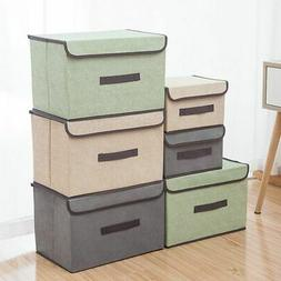 US Storage Box With Lid Home Storage Baskets Containers Bins